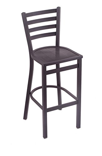 Fully Welded Steel Frame And Mesh Seat Offers Durability Lightweight Jackie Outdoor Steel Bar Stool, Dimensions 44Hx18Wx16D