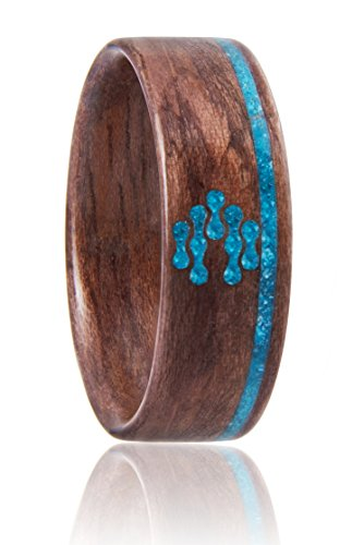 CNICK Smart Bentwood Ring with NFC - for Door Access and NFC Enabled Devices, Compatible with iPhone 7, 8, X and Android Mobile Devices. Fashionable Wooden Ring with RFID IC/ 13.56 MHZ