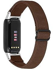 TopTen Klockband kompatibelt med Fitbit Luxe rem, nylon mjukt andningsbart vävt justerbart armband, ersättningstillbehör armband