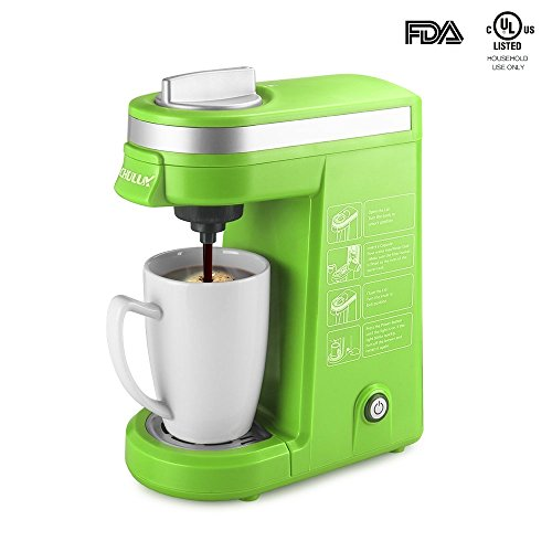 Product review for CHULUX Single Serve Coffee Maker with Removable Drip Tray for K-Cup,Green ...