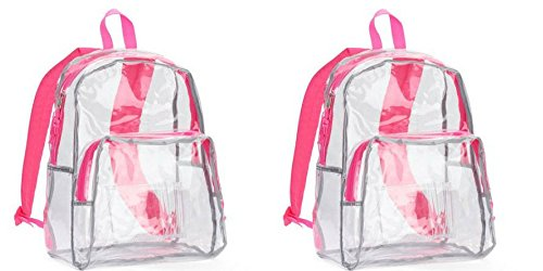 2-pieces-eastsport-clear-backpack-one-size-clear-pink