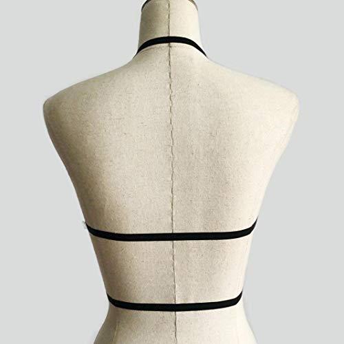 allettante bustino con donna Reggiseno cinturino gabbia con da reggiseno morbido elasticizzato con elasticizzato Bonkkara q1xfwnOICx