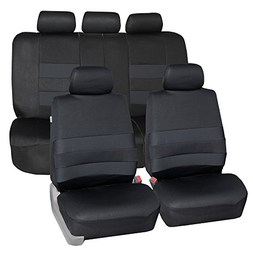 FH Group FB087BLACK115 Premium Neoprene Seat Cover (Water Resistant/Airbag/Split Bench Compatible)Cushion