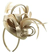 Fascinator Hats for Women Girls Feather Tea Party Kentucky Derby Wedding Church Hats Bridal Cocktail Fancy Headband