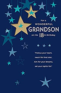 Grandson 18th Birthday Card