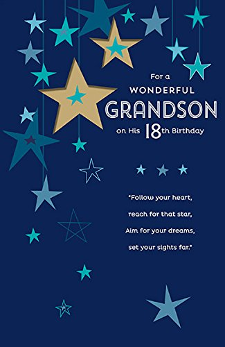 Amazon greeting card grandson 18th birthday card office products greeting card grandson 18th birthday card m4hsunfo