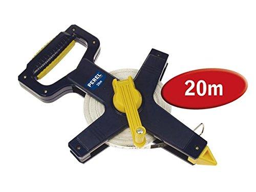 Perel 00684 HFMT20 Double Decametre Fibre Verre, Bleu