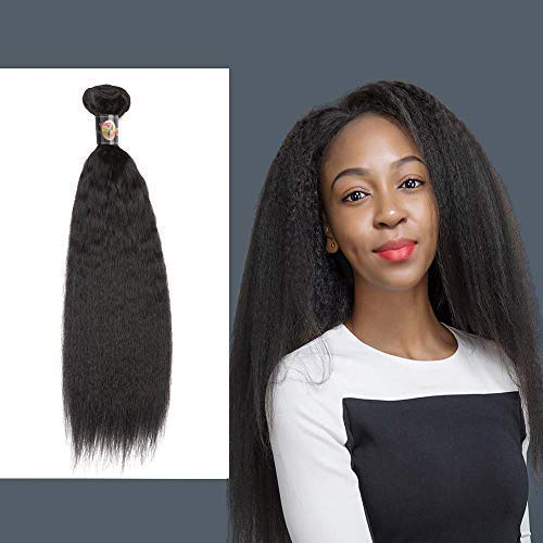 - Yaki Straight Curl 8A 1 Single Bundle Deal Real Virgin Raw Human Hair Unprocessed Double Weft Weave Natural Color (8 Inch)