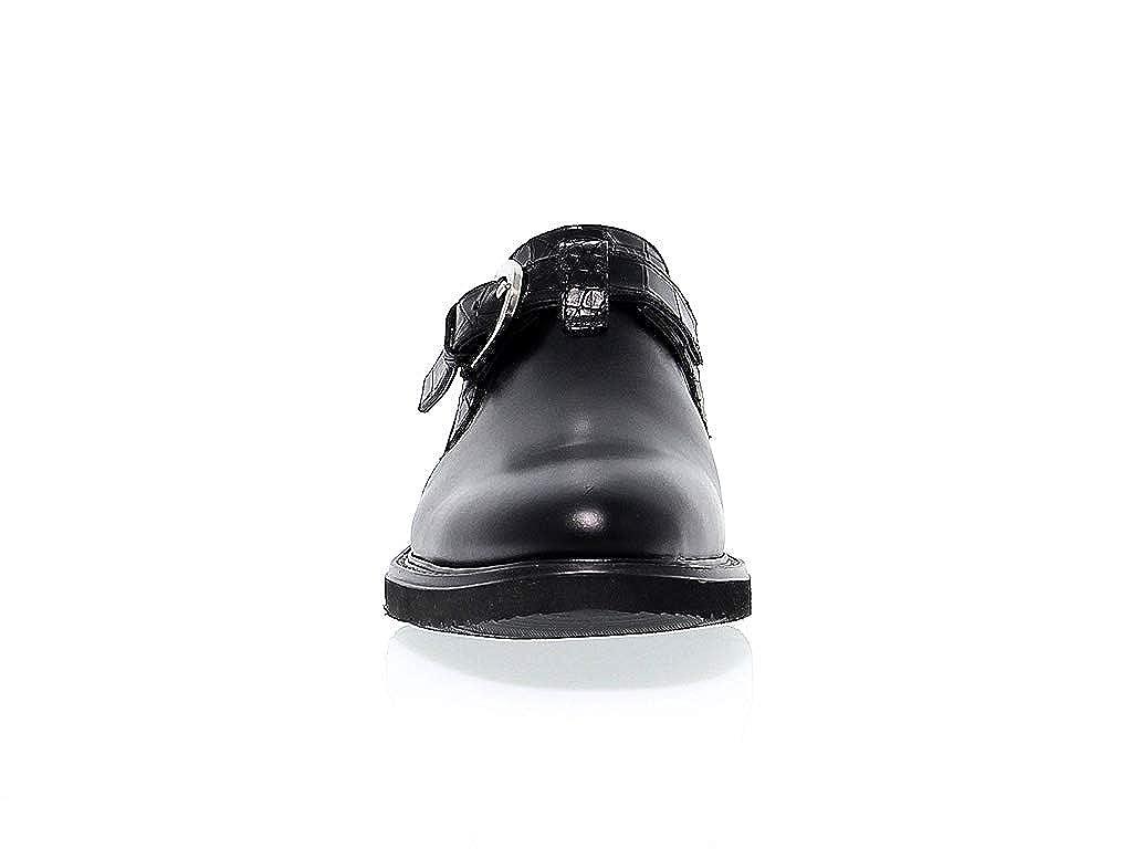 Cesare Paciotti Hombre PAC48407 Negro Cuero Zapatos Zapatos Zapatos con Correa Monk 40a509