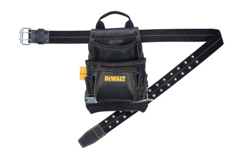 DEWALT-10-Pocket-Carpenters-Top-Grain-Leather-Nail-and-Tool-Bag