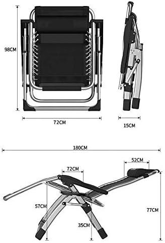 サンラウンジャー、無重力シェーズラウンジパティオラウンジチェアチェア折りたたみチェア屋外調節可能なリクライニングチェアビーチキャンプポータブルチェアクッション付きヘビーピープル(色:グレー)