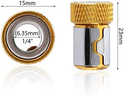 HUOGUOYIN Impact Driver Head 1//4 6.35mm Magnetizer Ring S2 Alloy Steel Screwdriver Magnetic Ring Removable Bit Magnetizer for Hex Shank Electric Screwdrive Drill Adapter Color : 5PCS