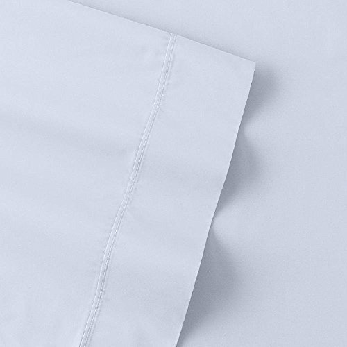 The Big One Percale Sheet Set (Twin, Pale Blue), 275 Thread Count, 3PC Set, 16