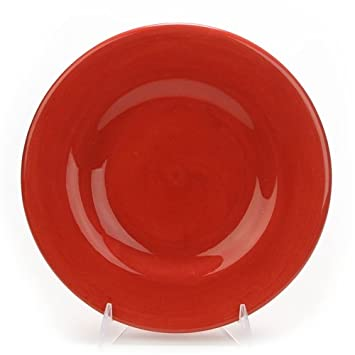 Salad Plate by Hausenware Ceramic Red  sc 1 st  Amazon.com & Amazon.com | Salad Plate by Hausenware Ceramic Red: Salad Plates
