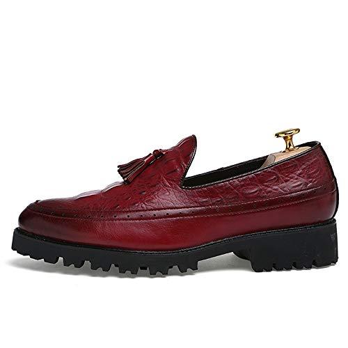 end Vino EU stile Classic Dimensione High Casual comode Mocassini Slip Oxford Fashion leggere Calzature lavoro da On nappa 41 formale Color scarpe da Mens Ofgcfbvxd Vino passeggio zw4B7