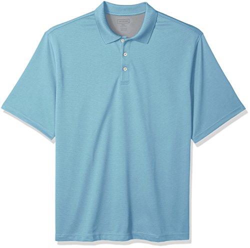 Van Heusen Men's Air Short Sleeve Polo, turquoise haze, 3X-Large Big -