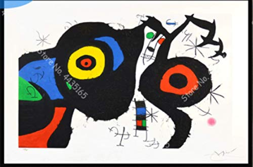WZGJZ Cuadro De Lienzo Joan Miro Replica Abstracta De Arte De Pared Poster Impresion Decoracion del Hogar Jz947We 40X60Cm Sin Marco