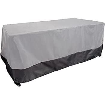 Dining Table Cover   Weatherproof Patio Furniture Cover (Grey W Dark Grey  Trim)