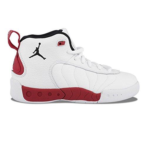 Jordan Jumpman Pro White/Black-Gym Red (Little Kid) (2 M US Little Kid)