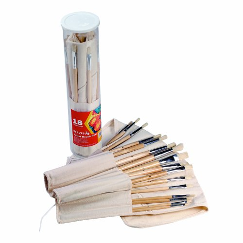 Reeves 18 Piece Artist Brushes Canvas product image