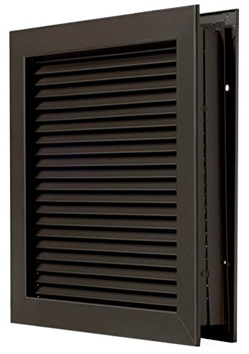 National Guard L700RXDKB20X20 L-700-Rxdkb-20X20 Self Attac Louver Drk BRZ 20 x 20'' , 20'' Height, Bronze by National Guard