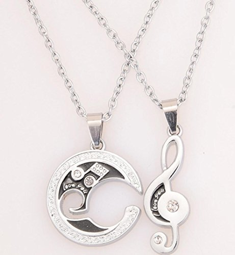 rs Couple Necklace, I Love You Stitching Pendant Chain, cheap stuff ()