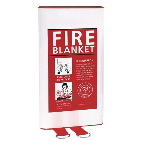 Quick Release Fire Blanket Home Kitchen Work Place Safety Protection 1mx1m Non Branded 8793