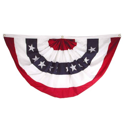 Super Tough Online Stores Sewn Polyester Pleated Fan, 27 by - Fan Bunting Pleated