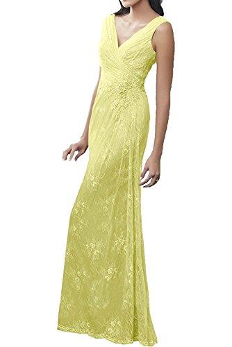 Gelb Ballkleider La Langes Abendkleider Spitze Marie Braut Etuikleider Brautmutterkleider Damen rqqxz0TCw
