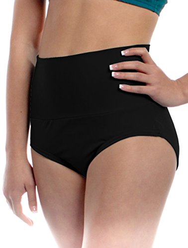 Womens High Waisted Brief Large Black Adult Sizes Performance Dancer Bottoms by B Dancewear