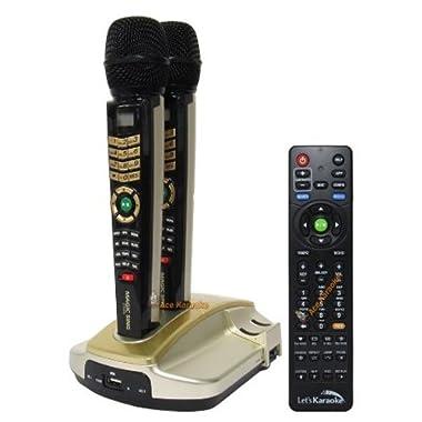 EnterTech MagicSing ET-23KH HD English Version Magic Karaoke System 2 Wireless Microphone & 2045 Songs