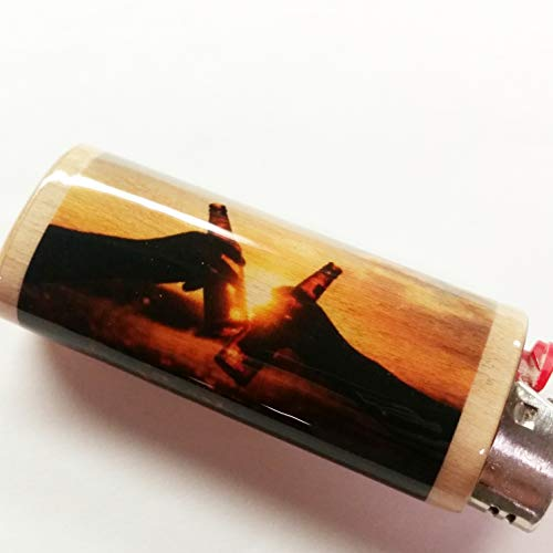 Beer Cheers Lighter Case Holder Sleeve Cover Fits Bic Lighters (Light Case Coors)