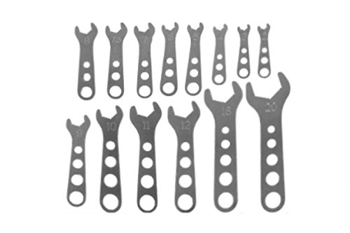 Billet Aluminum 14 pc Wrench Complete Set 2 - 20 AN Fitting Wrenches 551467