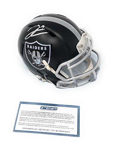 Derek Carr Oakland Raiders Signed Autograph Blaze Mini Helmet Steiner Sports Certified
