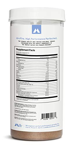 ArcFire Grass-Fed Whey Protein Isolate, 14 Servings Per Jar for Strength Recovery Post-Workout Protien Powder, Gluten-Free, NSF Certified – Momentous Chocolate