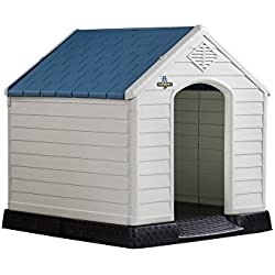 Confidence Pet Waterproof Plastic Dog Kennel Outdoor Winter House (Extra Large)