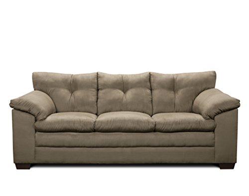 Simmons Upholstery Luna Sofa, Mineral (Simmons Microfiber Chair)