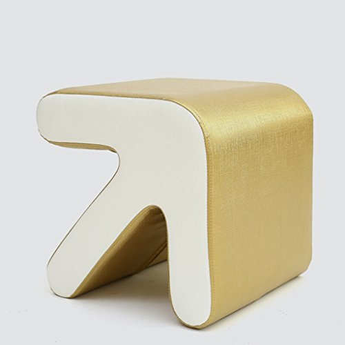 Simple Solid Wood Stool, Creative Arrow Leather Stool, Removable Washable Living Room Bedroom Home Footstool -