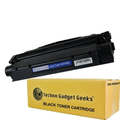 Techno Gadget Geeks 1 Pack X-25 8489A001AA Toner Cartridge Fits Canon ImageClass MF3110 MF3111 MF3240 MF5500 MF5530 MF5550 MF5630 MF5650 MF5730 MF5750 MF5770 LaserBase MF3220 MF3240 MF5630 MF5650 LaserShot LBP-3200 LBP-300LDA LBP-300LDF LBP-300N LBP-3200  by Techno Gadget Geeks