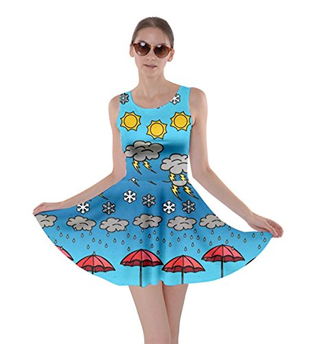 CowCow Womens Frizzle Weather 2 Skater Dress, Frizzle - 3XL]()