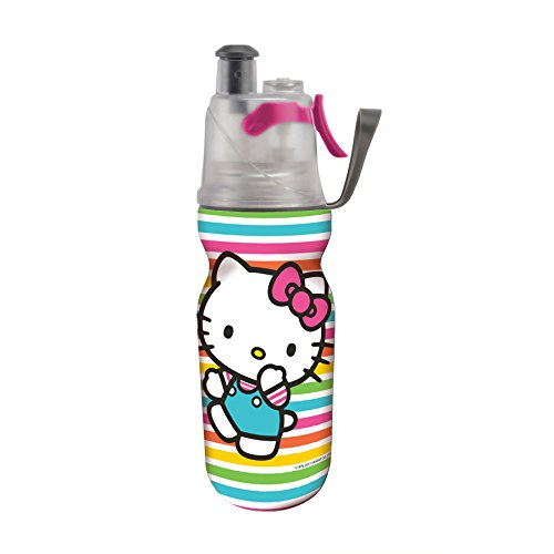 O2COOL Licensed ArcticSqueeze Insulated Mist 'N Sip Squeeze Bottle 12 oz., Hello Kitty