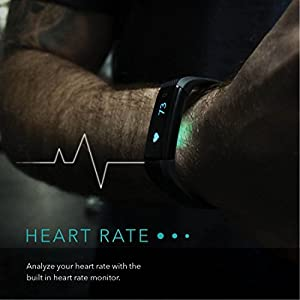 Smart Band: Heart Rate Monitor Fitness Activity Tracker Watch Step Walking Sleep Counter Wireless Wristband Pedometer Exercise Tracking Sweatproof Sports Bracelet ALL iPhone ALL Android Smart Phones