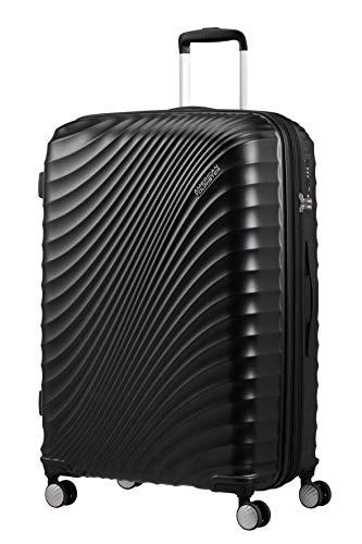 American Tourister Jetglam - Spinner L Erweiterbar Koffer, 77 cm, 109 L, schwarz (Metallic Black)