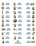 30 Personalized Waterproof Name Labels Minions
