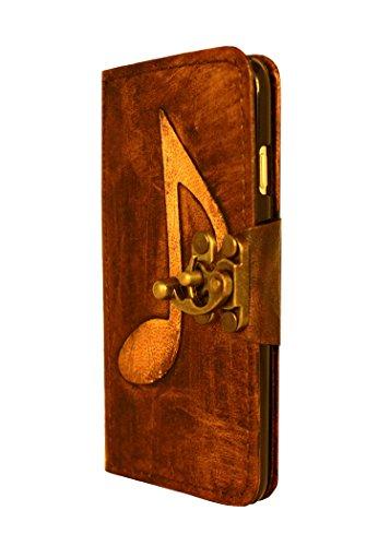 """A Little Present """", handgemacht, Vintage-Stil, 1-Dekoration"""" Leder-Klappetui (mit Schloss für iPhone 6, Braun"""