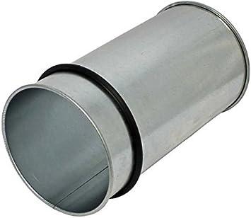 """Galvanized Steel NORDFAB 3202-0700-100000 Adjustable Nipple 7/"""" Duct Dia 22"""
