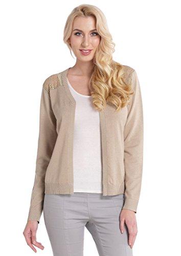 Abollria Ladies Girls Lace Hollow Back Shoulder Open Front Long Sleeve Tops Boyfriend Knitwear Cardigan for Women