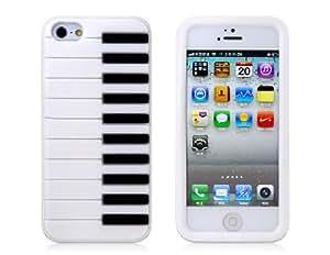 Piano de silicona protectora para el iPhone 5 (Whtie)