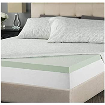 Zinus 2 Inch Green Tea Memory Foam Mattress Topper, Queen