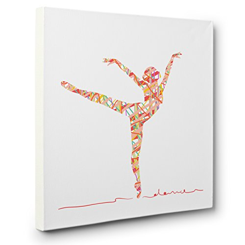 Abstract Silhouette Dancer CANVAS Wall Art Home Décor by Paper Blast